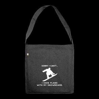 Snowboard Snowboarder Snowboarding Wintersport Ski - Shoulder Bag made from recycled material