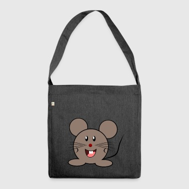 Cuddly mouse - Shoulder Bag made from recycled material
