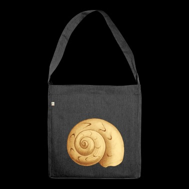 Shell snail shell motif as a gift idea - Shoulder Bag made from recycled material