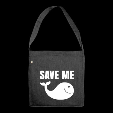 Limitiert save me - whale - Schultertasche aus Recycling-Material