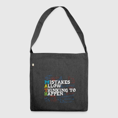Math gift math lover teacher geometry - Shoulder Bag made from recycled material