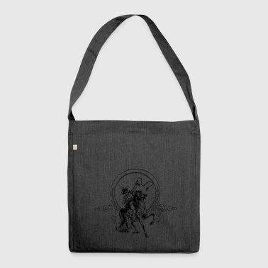 cowboy ranger rancher sheriff horse wester - Schultertasche aus Recycling-Material