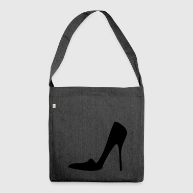 Stiletto Highheels - Schultertasche aus Recycling-Material