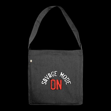 SAVAGE MODE ON - Shoulder Bag made from recycled material
