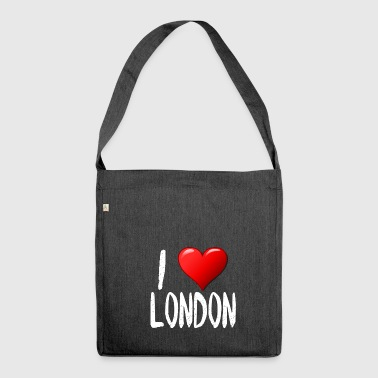 I Love London - Schultertasche aus Recycling-Material
