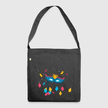 Carnival mask confetti celebration party gift - Shoulder Bag made from recycled material