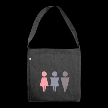Gender Gift Woman Man Gender Emancipation - Shoulder Bag made from recycled material