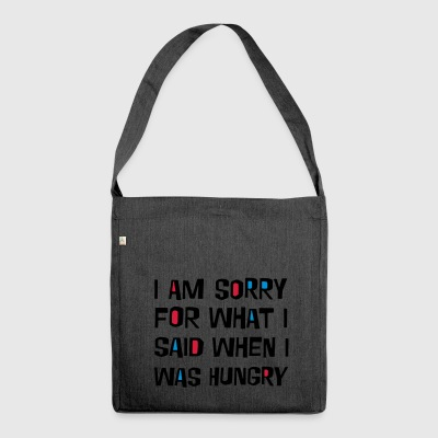 2541614 16037250 sorry hungry - Shoulder Bag made from recycled material