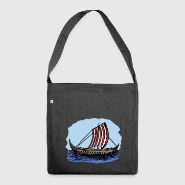 paddle boat sail boat rowing boat sailboat70 - Shoulder Bag made from recycled material