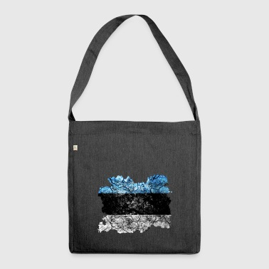 Estonia vintage flag - Shoulder Bag made from recycled material