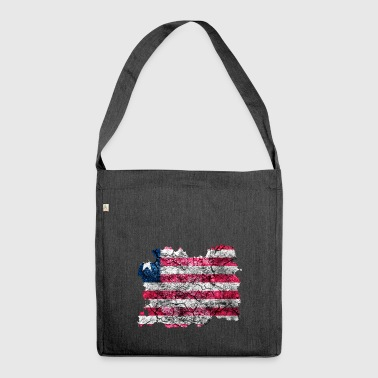 Liberia vintage flag - Shoulder Bag made from recycled material