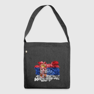 Serbia vintage flag - Shoulder Bag made from recycled material