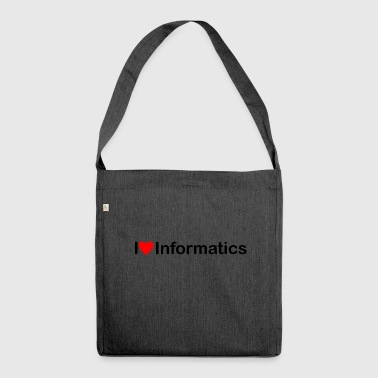 Love of computer science - Shoulder Bag made from recycled material