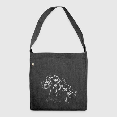 GREAT DANE Portrait DUO Wilsign's Great Dane - Shoulder Bag made from recycled material