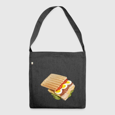 sandwich toast toaster breakfast breakfast18 - Shoulder Bag made from recycled material