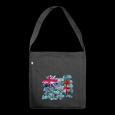 Fiji vintage flag - Shoulder Bag made from recycled material