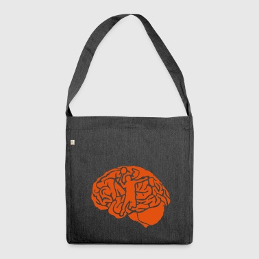 badminton brain brain cervello cerebro - Shoulder Bag made from recycled material