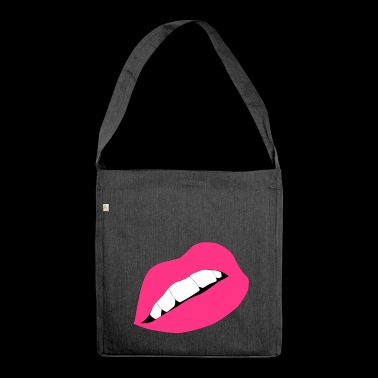 Lips Lips Mouth Kiss Kiss - Borsa in materiale riciclato
