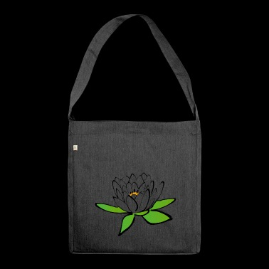 Die Lotusblume - Schultertasche aus Recycling-Material