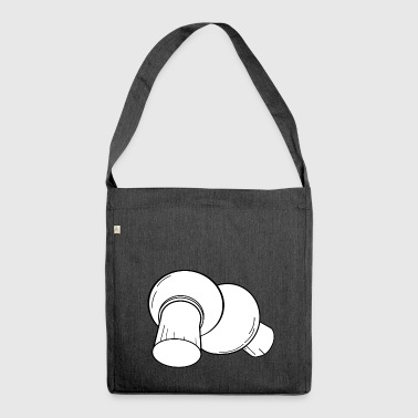 mushrooms mushrooms fungi veggie vegetables vegetables91 - Shoulder Bag made from recycled material
