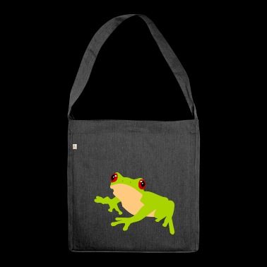 Frog Common Frog Tree Frog Nature - Shoulder Bag made from recycled material