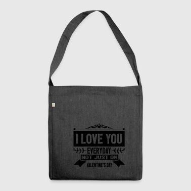 I LOVE VALENTINES liebe - Schultertasche aus Recycling-Material