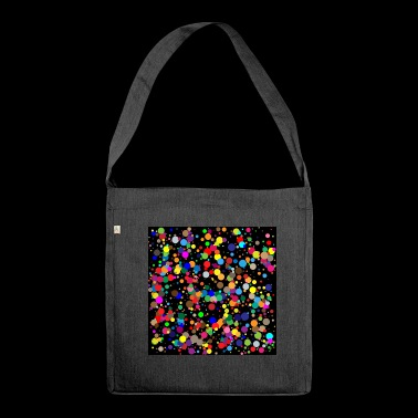Confetti poster - Shoulder Bag made from recycled material