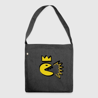king | smile | yellow | yellow | emoji | - Shoulder Bag made from recycled material