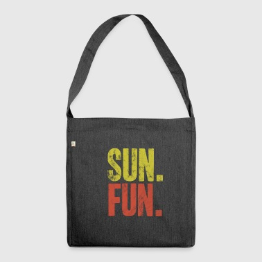 Sun fun summer gift idea heat heat - Shoulder Bag made from recycled material