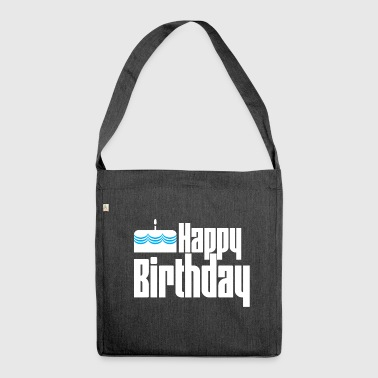Happy Birthday - Schultertasche aus Recycling-Material