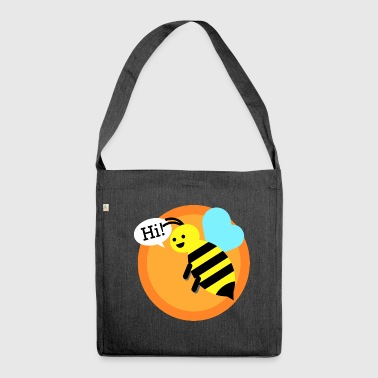 Cool bumble bee - Shoulder Bag made from recycled material