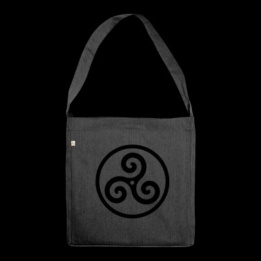Triskele Symbol Gothic Celtic BDSM Funny Gift - Shoulder Bag made from recycled material