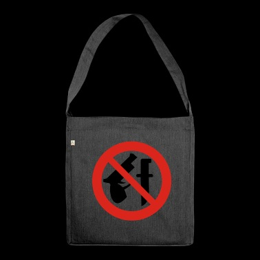 No weapons - Shoulder Bag made from recycled material