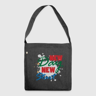 New day startup motivation winner gift - Shoulder Bag made from recycled material