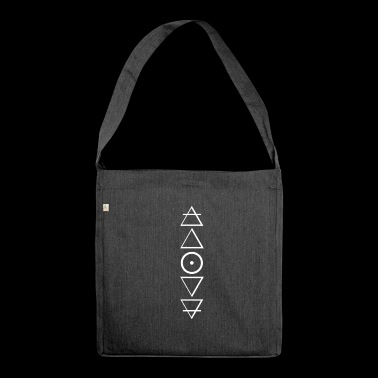 Alchemy symbols in a stylish design - Shoulder Bag made from recycled material