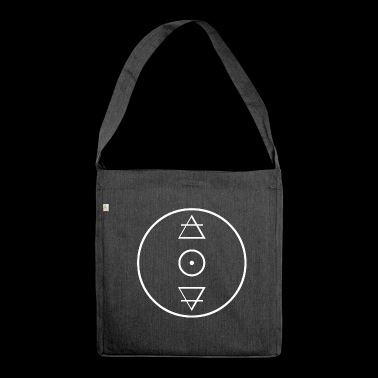Alchemy gold circle icon - Shoulder Bag made from recycled material