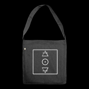 Alchemy symbols design - Shoulder Bag made from recycled material
