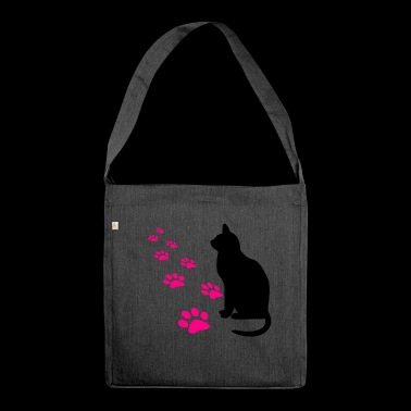 Cat's paws - Shoulder Bag made from recycled material