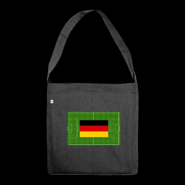 Germany soccer field - Shoulder Bag made from recycled material