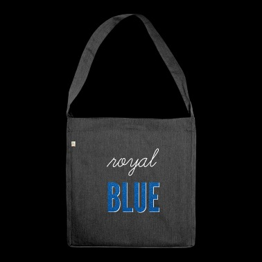 Royal blue / royal blue - Shoulder Bag made from recycled material