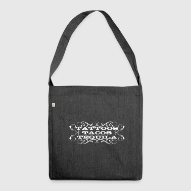 Tattoo, tattoo, tattoo - Shoulder Bag made from recycled material
