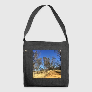 Outback australia unsettled road - Shoulder Bag made from recycled material