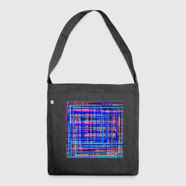 Deep art in the space of time united with love - Shoulder Bag made from recycled material