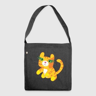 Cuddly tiger - Shoulder Bag made from recycled material