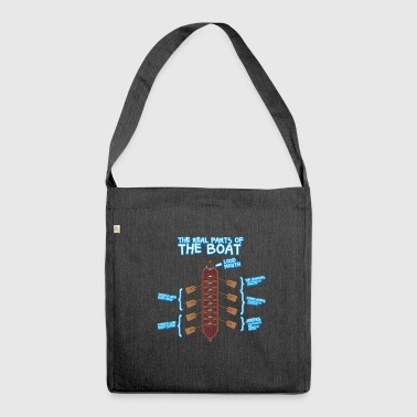 Anatomy of a Rowing Boat - Rowing Rowing Canoe SUP - Shoulder Bag made from recycled material