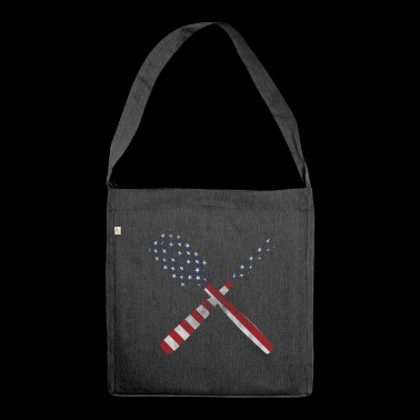 Cutlery stars and stripes - Shoulder Bag made from recycled material