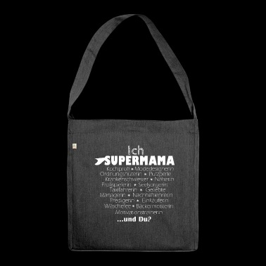 Supermama Mama - Schultertasche aus Recycling-Material