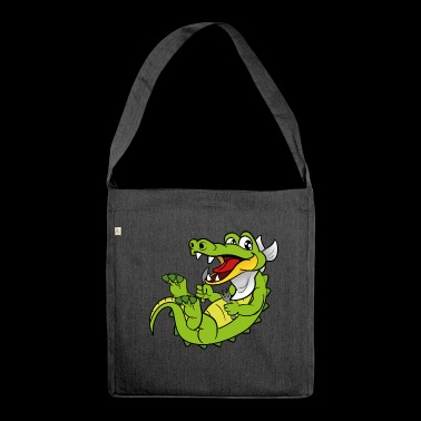 Crocodile alligator - Shoulder Bag made from recycled material