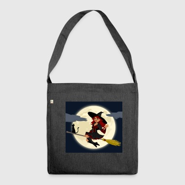 naughty witch - Shoulder Bag made from recycled material