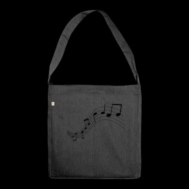 Music notes, music, notes - Shoulder Bag made from recycled material